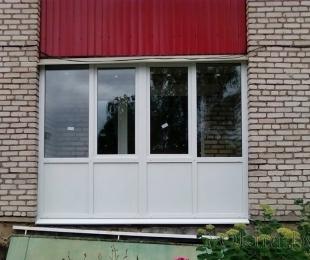 Балконная рама из ПВХ. Заславль. №8