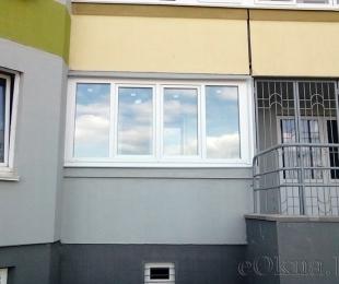 Балконная рама из ПВХ. Заславль. №3