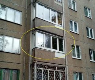 Балконная рама из ПВХ. Заславль. №2