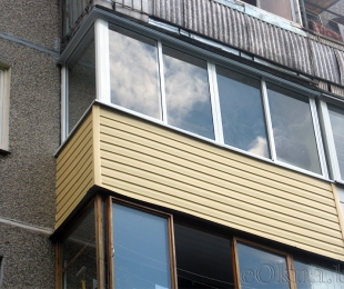 Балконная рама из алюминия. Заславль. №1