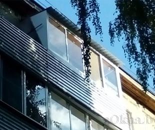 Балконная рама из алюминия. Заславль. №6