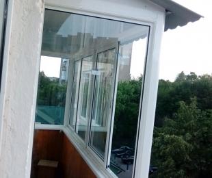Балконная рама из алюминия. Заславль. №5