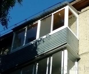 Балконная рама из алюминия. Заславль. №7
