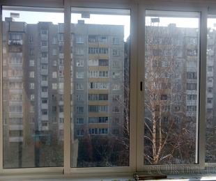 Балконная рама из алюминия. Заславль. №2