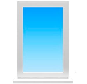 Цена на одиночное глухое окно